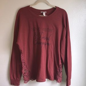 """""""Save after & Drink Champagne""""long sleeve Sweater"""